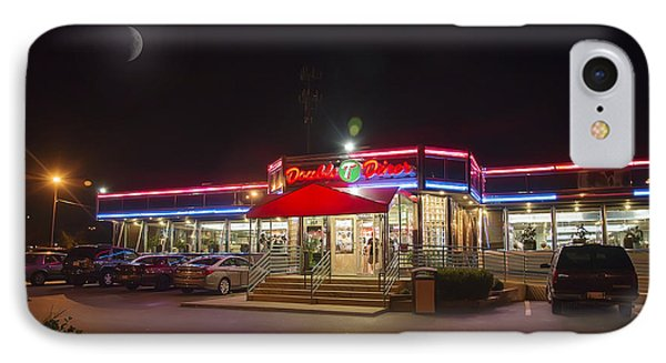 Double T Diner At Night IPhone Case by Brian Wallace