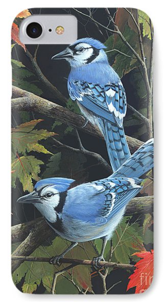 IPhone Case featuring the painting Double Trouble by Mike Brown