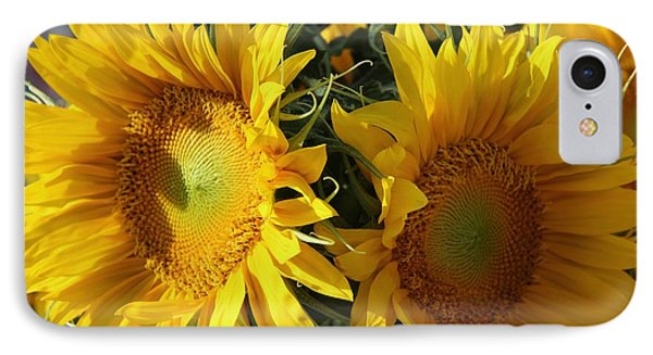 IPhone Case featuring the photograph Double Yellow  by Yumi Johnson