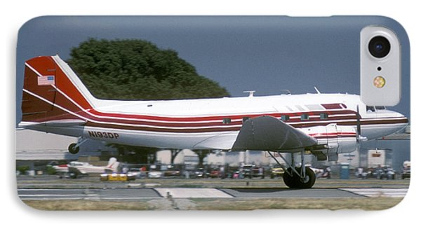 Douglas Dc-3 N193dp Van Nuys Airport June 23 2000 IPhone Case