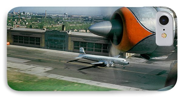 Douglas Dc-7 Taking Off IPhone Case by Wernher Krutein