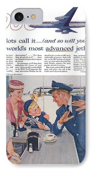 Douglas Dc8 Saturday Evening Post Advertisement IPhone Case