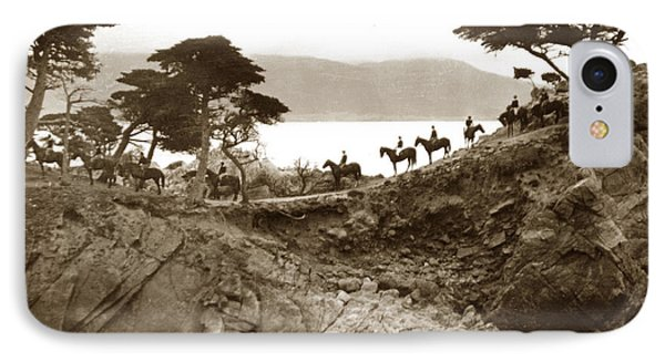 Douglas School For Girls At Lone Cypress Tree Pebble Beach 1932 IPhone Case by California Views Mr Pat Hathaway Archives