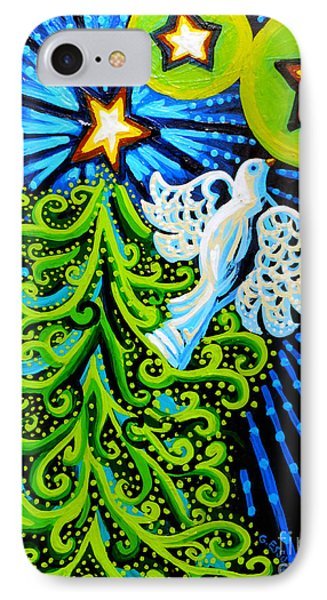 Dove And Christmas Tree Phone Case by Genevieve Esson