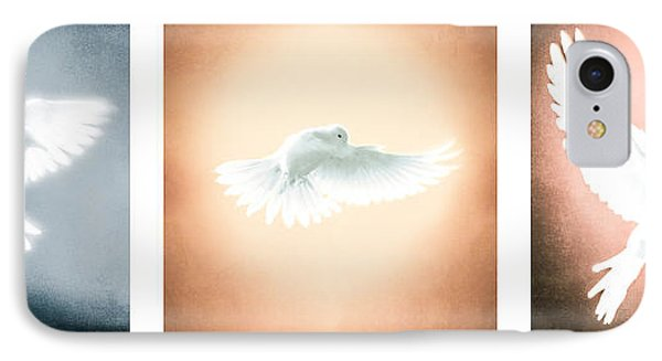 Dove In Flight Triptych IPhone Case