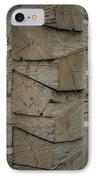 Dove Tailed Log Cabin IPhone Case by Paul Freidlund