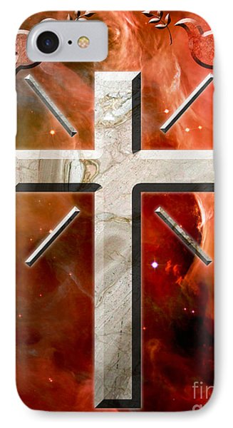 Doves And Stone Cross IPhone Case by Phill Petrovic