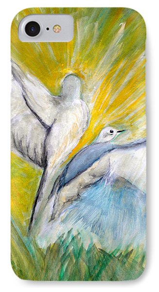 Doves At Sunrise Phone Case by Linda Waidelich