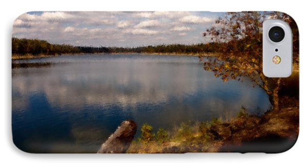Down At The Lake IPhone Case by Ken Frischkorn