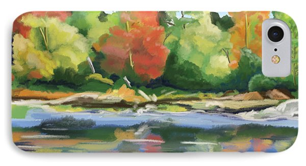 IPhone Case featuring the painting Down By The River by Tim Gilliland