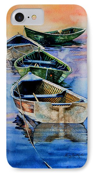 Down East Dories At Dawn Phone Case by Hanne Lore Koehler