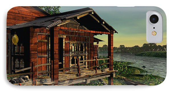 IPhone Case featuring the digital art Down On The Bayou by John Pangia