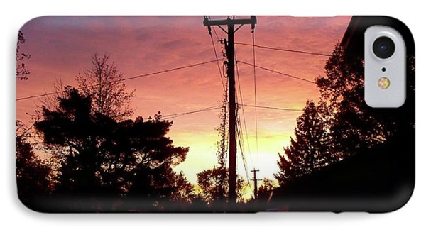 Down The Alley Sunrise Phone Case by Thomas Woolworth