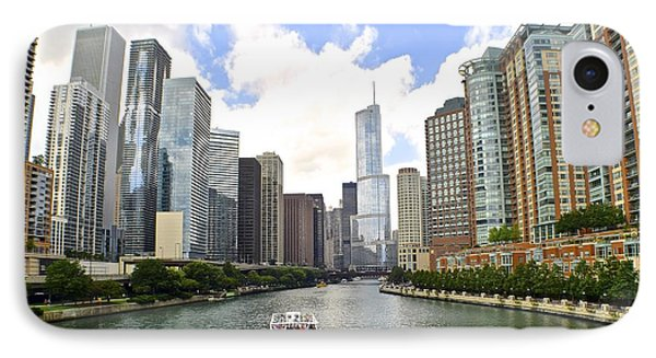 Down The Chicago River IPhone Case by Frozen in Time Fine Art Photography