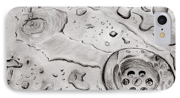 Down The Drain IPhone Case by Zilpa Van der Gragt
