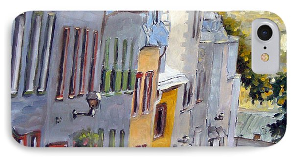 Down The Hill Old Quebec City IPhone Case by Richard T Pranke
