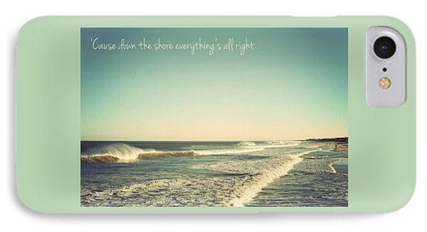 Down The Shore Seaside Heights Vintage Quote IPhone Case by Terry DeLuco