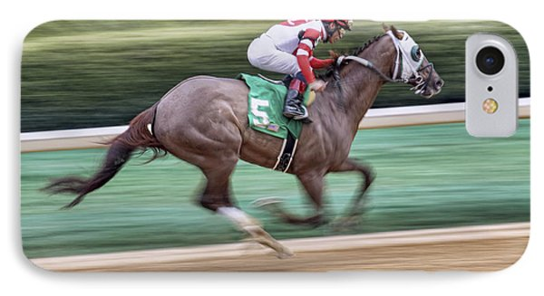Down The Stretch - Horse Racing - Jockey IPhone Case by Jason Politte