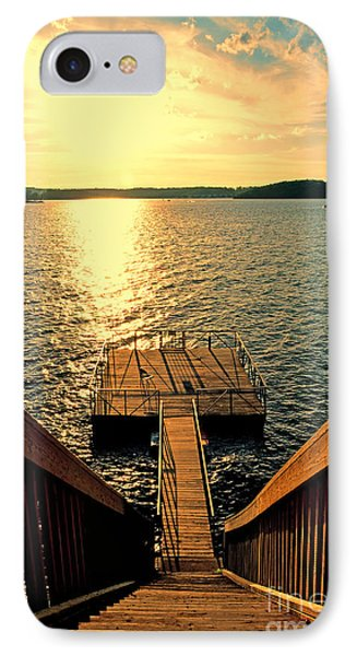 Down To The Fishing Dock - Lake Of The Ozarks Mo IPhone Case by Debbie Portwood