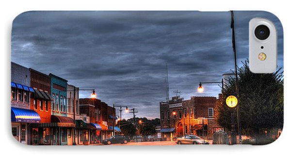 Down Town Granite Falls At Six Thirty In The Morning IPhone Case by Robert Loe