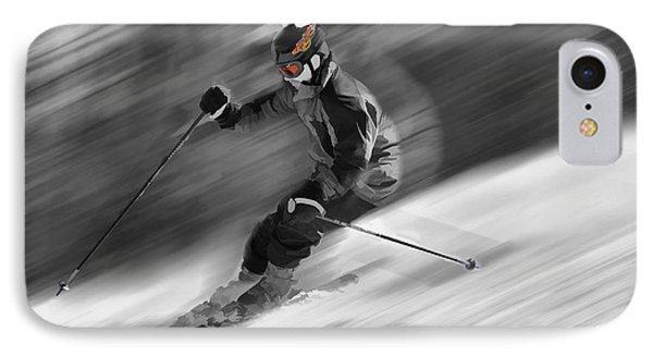 Downhill Skier  Phone Case by Dan Friend