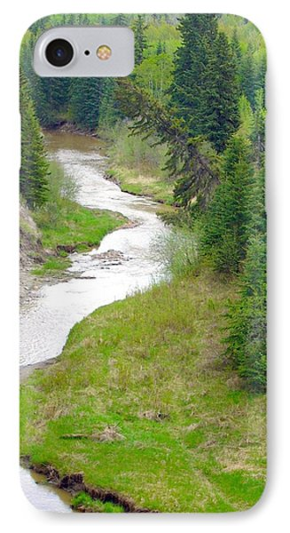 Downriver IPhone Case by Jim Sauchyn