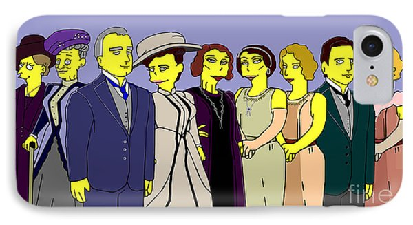 Downton Abbey - Cast Nine IPhone Case by Donna Huntriss