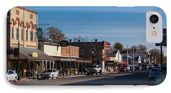 Downtown Boerne IPhone Case by Ed Gleichman