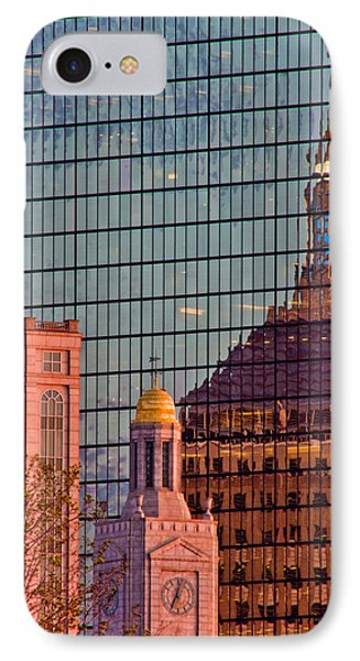 Downtown Boston Reflection IPhone Case by John McGraw