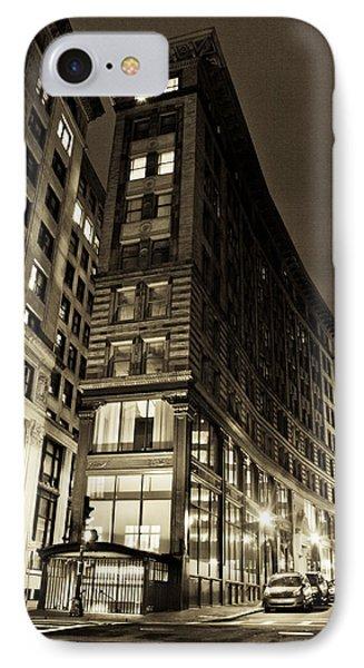 Downtown Boston Sepia IPhone Case by John McGraw