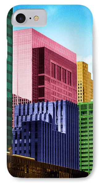 Downtown Building Blocks IPhone Case by Bartz Johnson