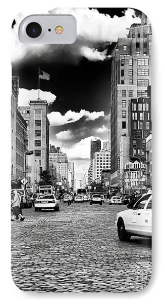 Downtown Cab Ride Phone Case by John Rizzuto