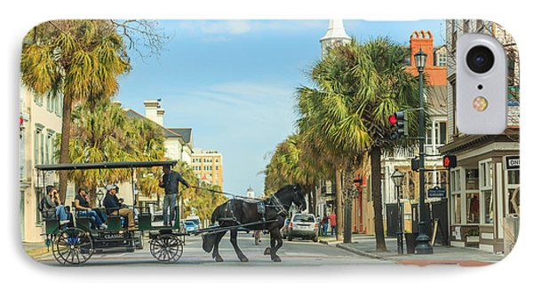 IPhone Case featuring the photograph Downtown Charleston Stroll by Patricia Schaefer