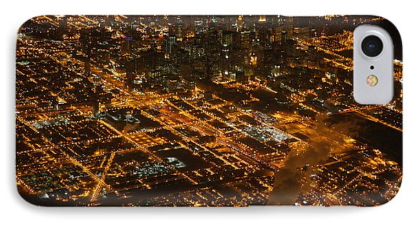 Downtown Chicago At Night IPhone Case by Nathan Rupert