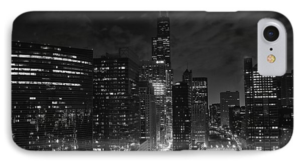Downtown Chicago At Night IPhone Case