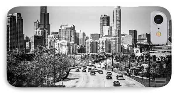 Downtown Chicago Lake Shore Drive In Black And White IPhone Case by Paul Velgos