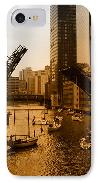 Downtown Chicago IPhone Case by Miguel Winterpacht