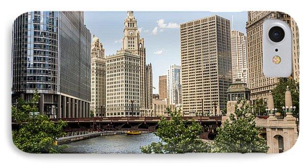 Downtown Chicago Skyline At Wabash Avenue Bridge IPhone Case by Paul Velgos