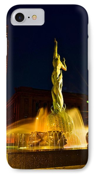 Downtown Cleveland Phone Case by Frozen in Time Fine Art Photography