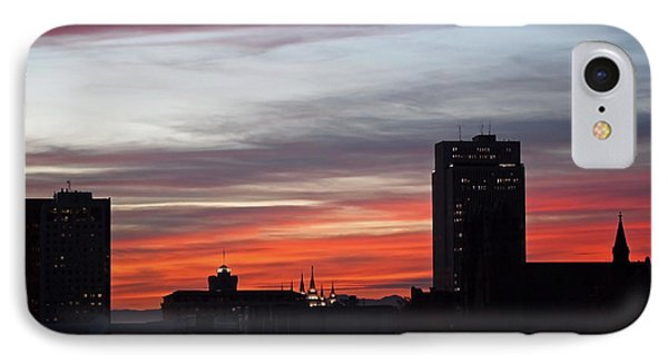 Downtown Glow Phone Case by Rona Black