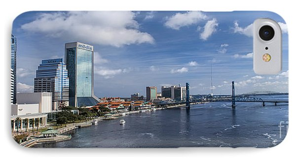 Downtown Jacksonville Florida Panoramic IPhone Case