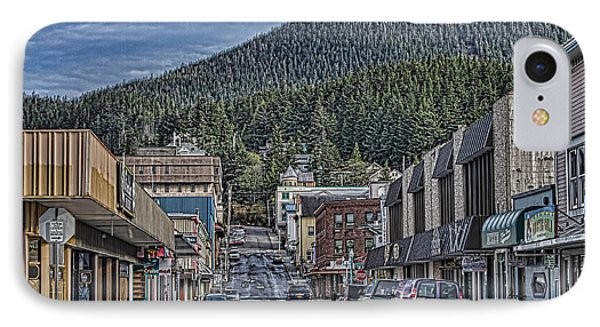 Downtown Ketchikan Alaska IPhone Case by Timothy Latta