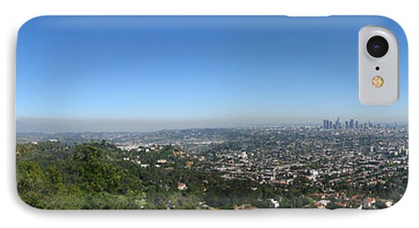 Downtown La From Griffith Observatory Phone Case by Bedros Awak
