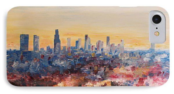 Downtown Los Angeles At Dusk Phone Case by M Bleichner