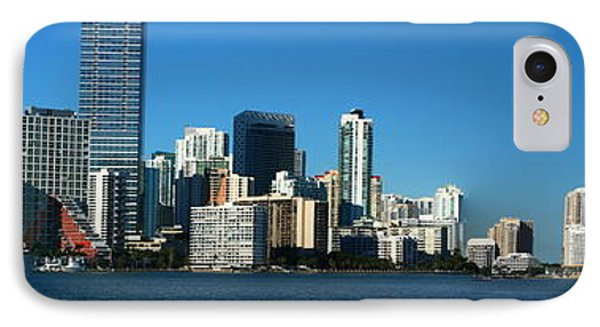 Downtown Miami Panorama IPhone Case by Christiane Schulze Art And Photography