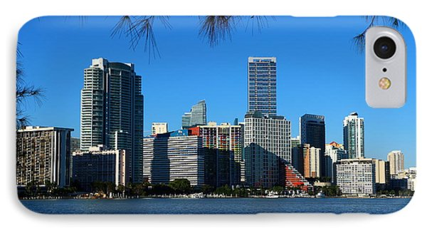 Downtown Miami Skyline IPhone Case by Christiane Schulze Art And Photography