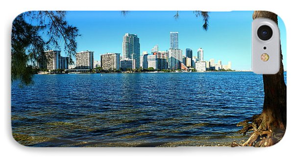 Downtown Miami View IPhone Case by Christiane Schulze Art And Photography
