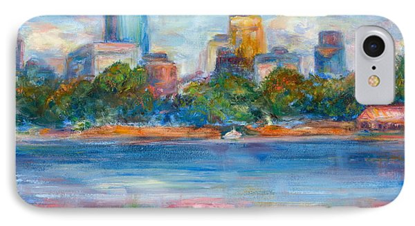 Downtown Minneapolis Skyline From Lake Calhoun II - Or Commission Your City Painting IPhone Case