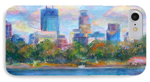 Downtown Minneapolis Skyline From Lake Calhoun Phone Case by Quin Sweetman