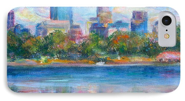 Downtown Minneapolis Skyline From Lake Calhoun IPhone Case by Quin Sweetman